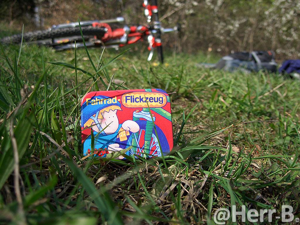 Fahrrad-Flickzeug-Werbebild
