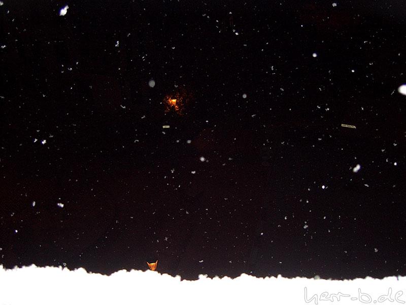 Schnee vor dem Fenster