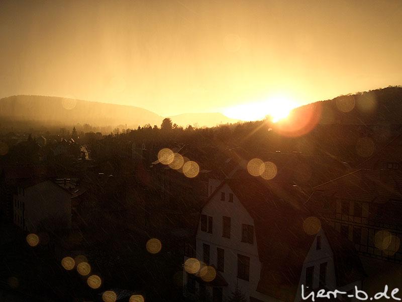 Abendsonne vs Regenschauer