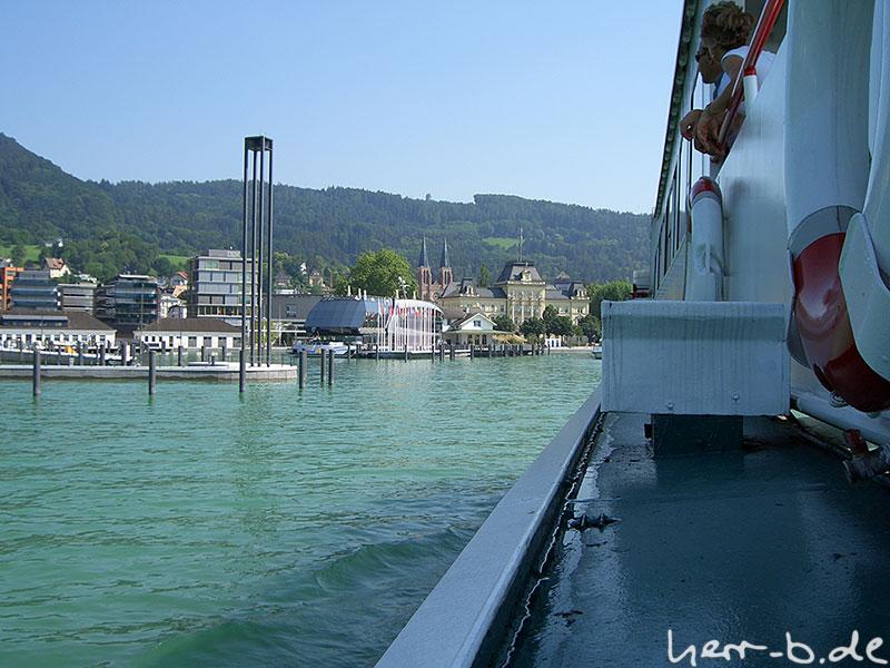 Hafeneinfahrt Bregenz