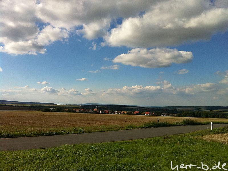Zimmritz oder auch Wolken und Landschaft