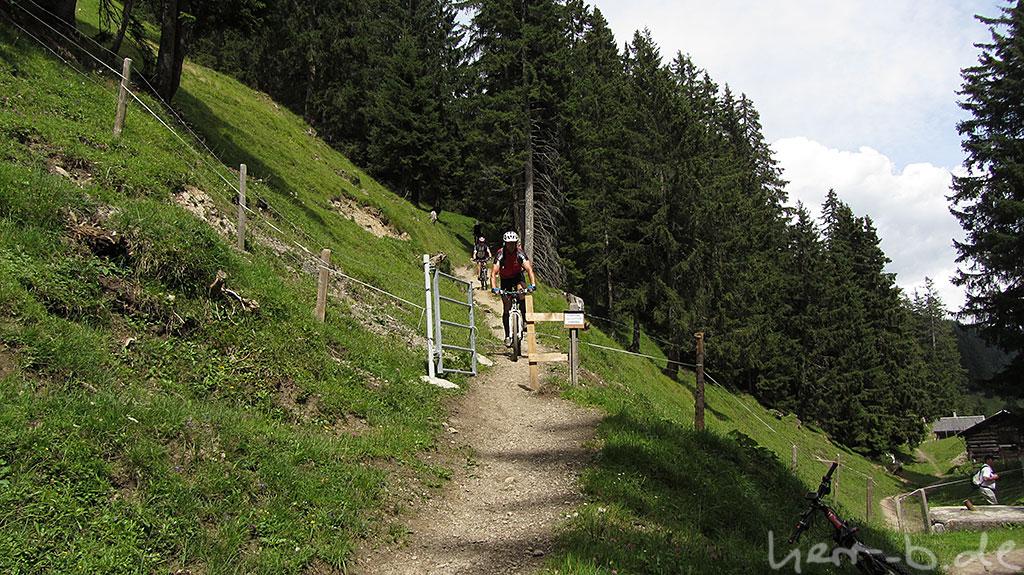 Zwischenstopp beim Trailfahren