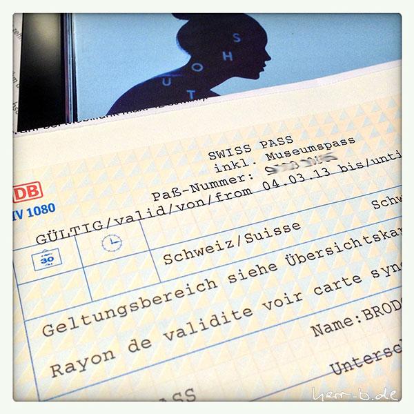 Swiss Pass von der Bahn