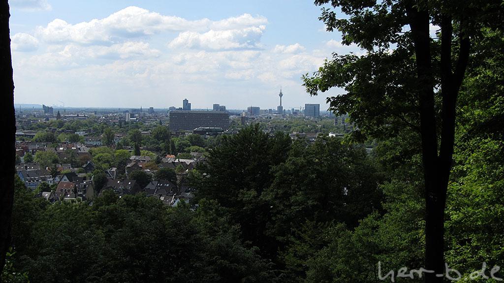 Schöne Aussicht auf Düsseldorf