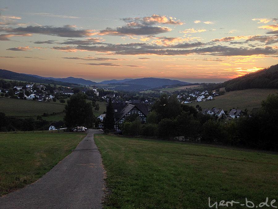 Ausblick oberhalb Grafschaft
