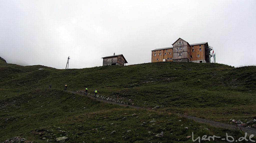 Anstieg zur Heilbronner Hütte