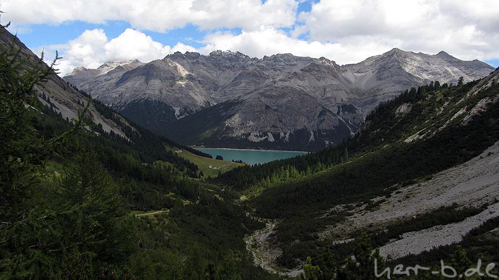 Blick zurück runter zum Lago