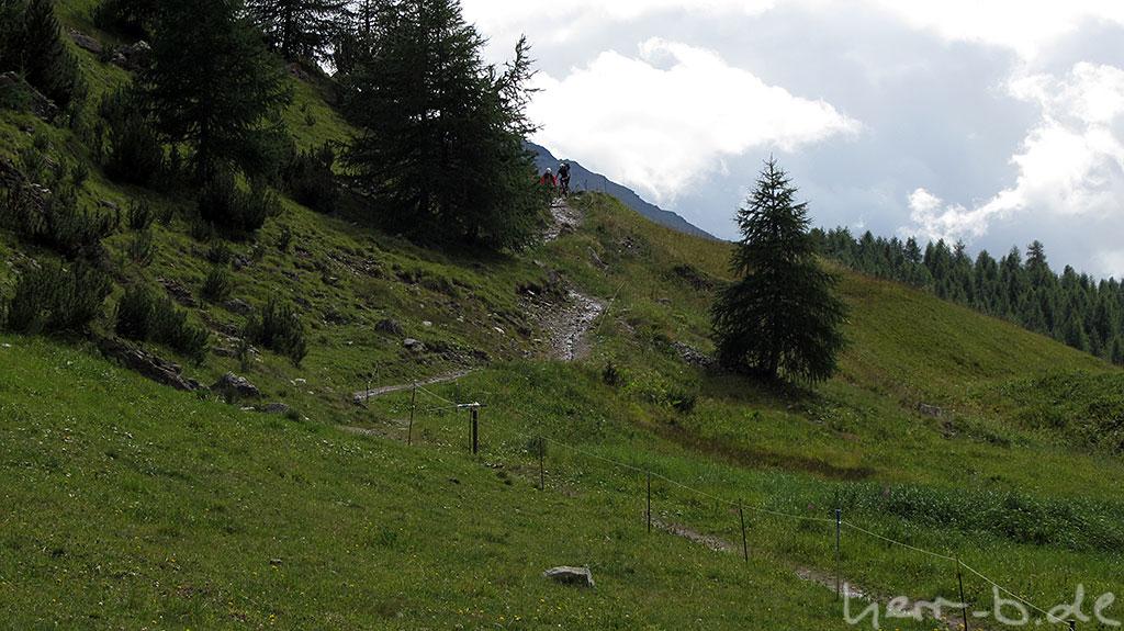 Das Ende des herrlichen Flow Trails