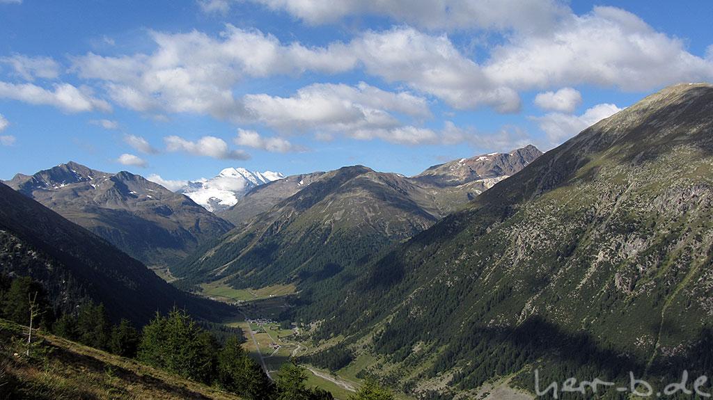 Blick zum Bernina Pass
