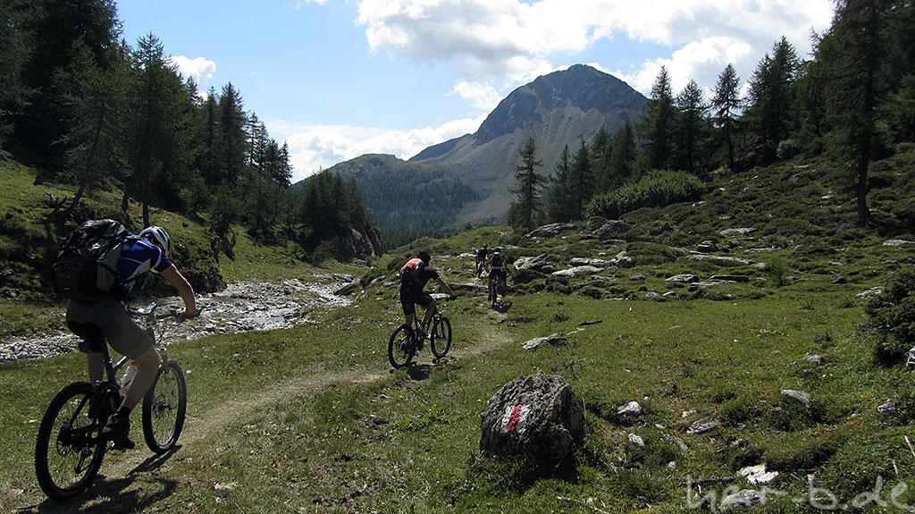 Trail zum Bernina Pass