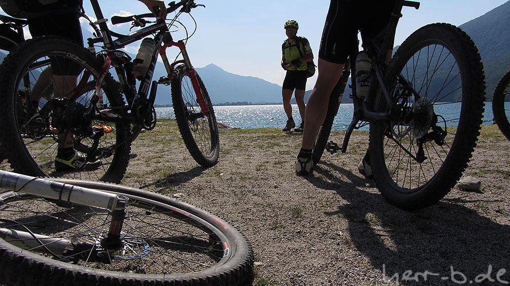 Biker am Strand