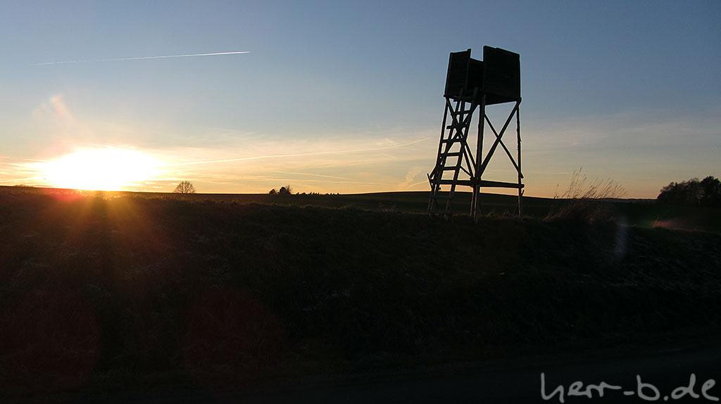 Der vorletzte Sonnenuntergang des Jahres 2013