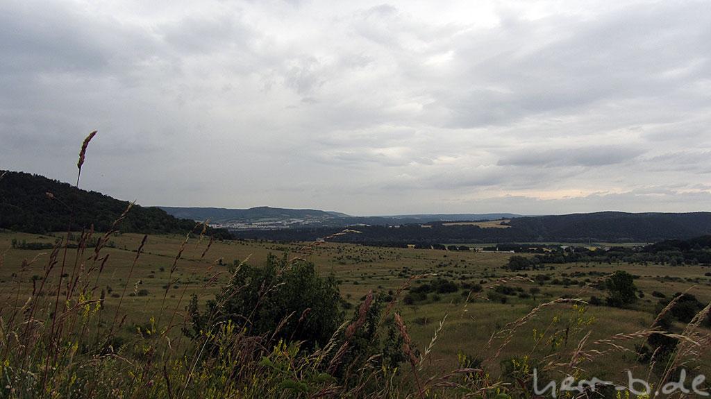 Wolkige Aussicht Richtung Jena