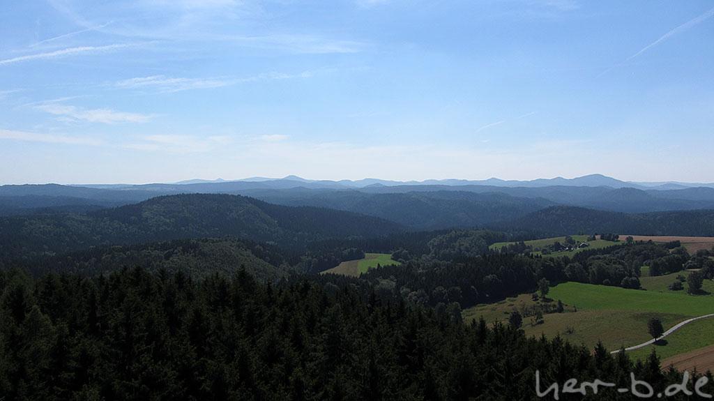 Aussicht Richtung Riesengebirge, da geht es hin.