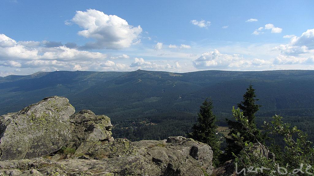 Blick ins Riesengebirge (vermutlich)