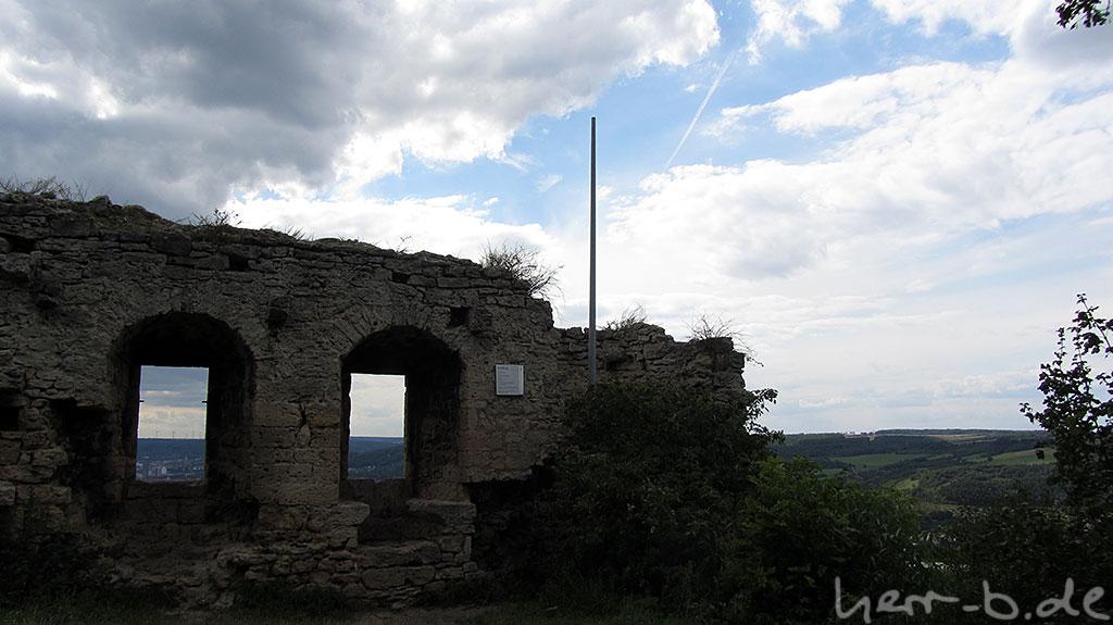 Die Reste der Kunitzburg