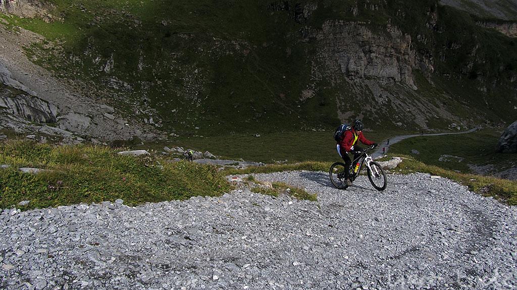 Steiler Anstieg in über 2000 Meter Höhe