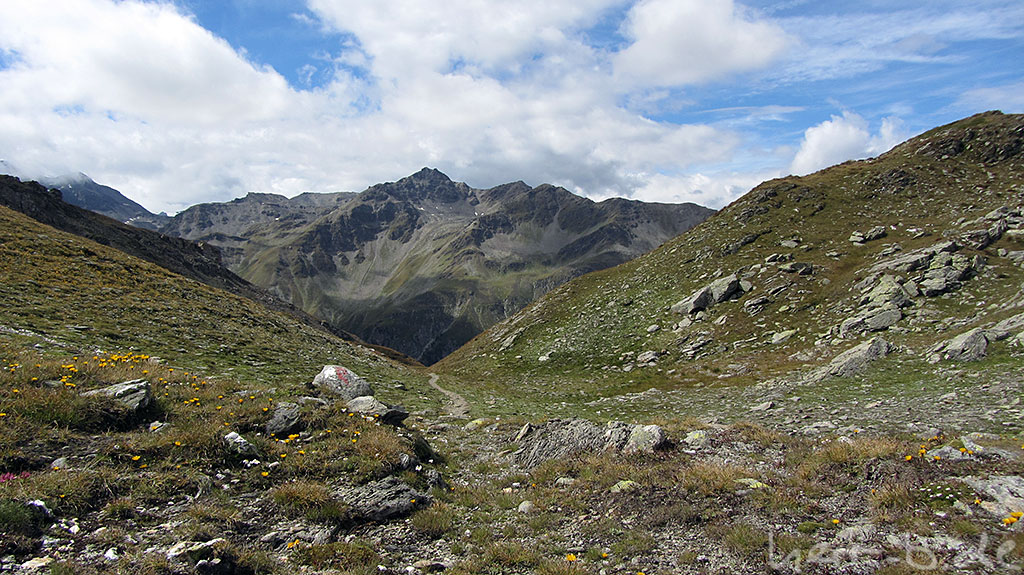 Wanderweg am Bistinepass