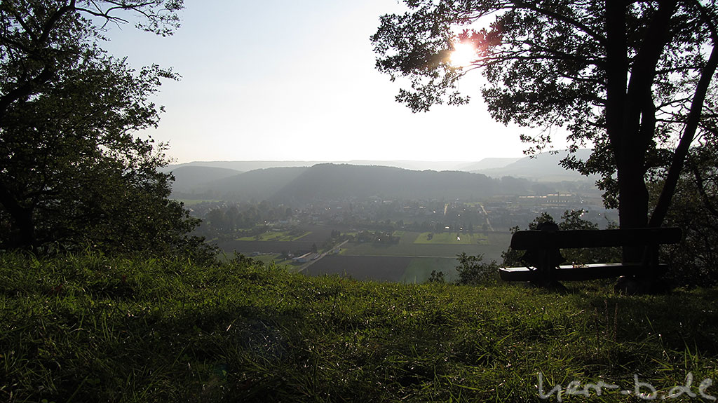 Am Helenenstein mit Aussicht auf Rothenstein