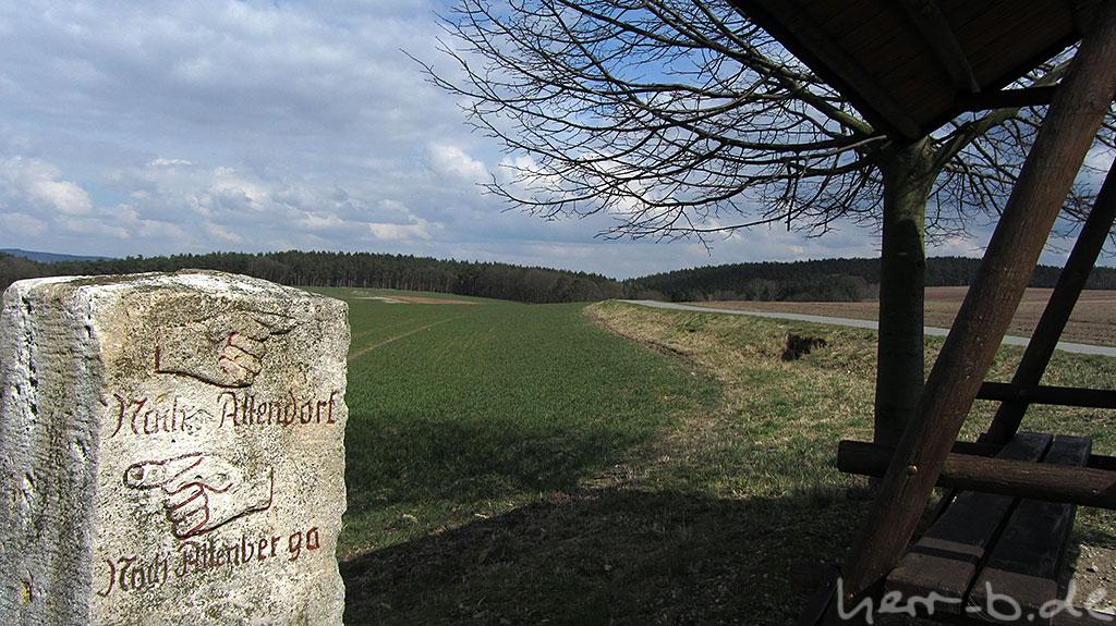 Am Bürgermeisterstammtisch zwischen Altendorf und Altenberga (und Greuda).