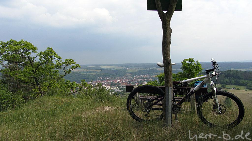 Ausblick auf Kahla vom Hornissenberg