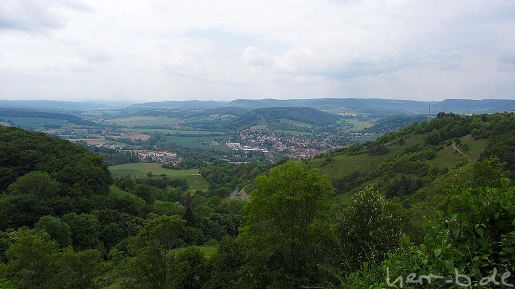 Blick von der Leuchtenburg nach Kahla