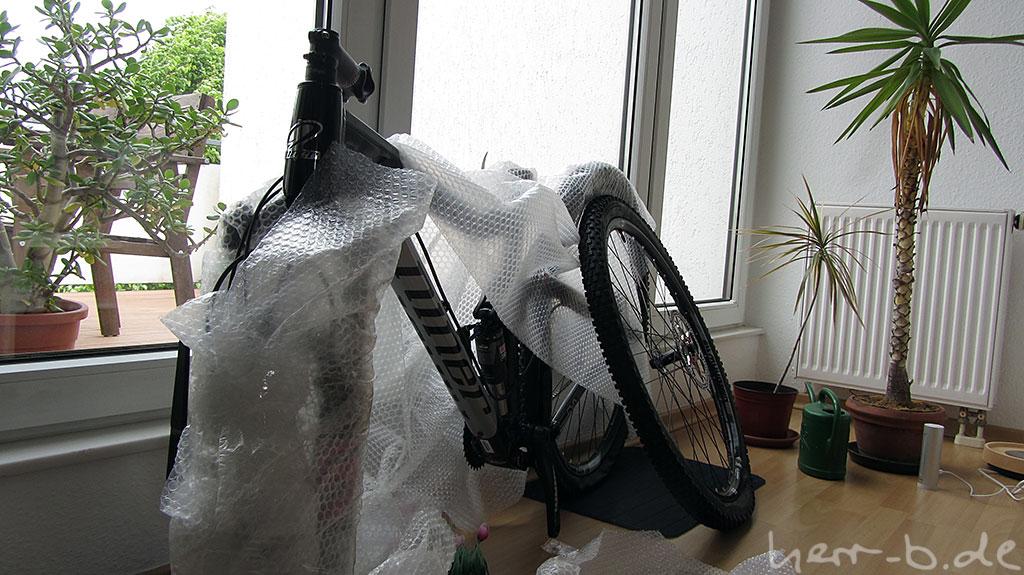 Frisch ausgepacktes Bisonbike.