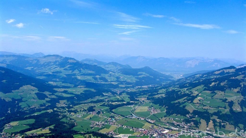 Diesiger Ausblick über das Brixental