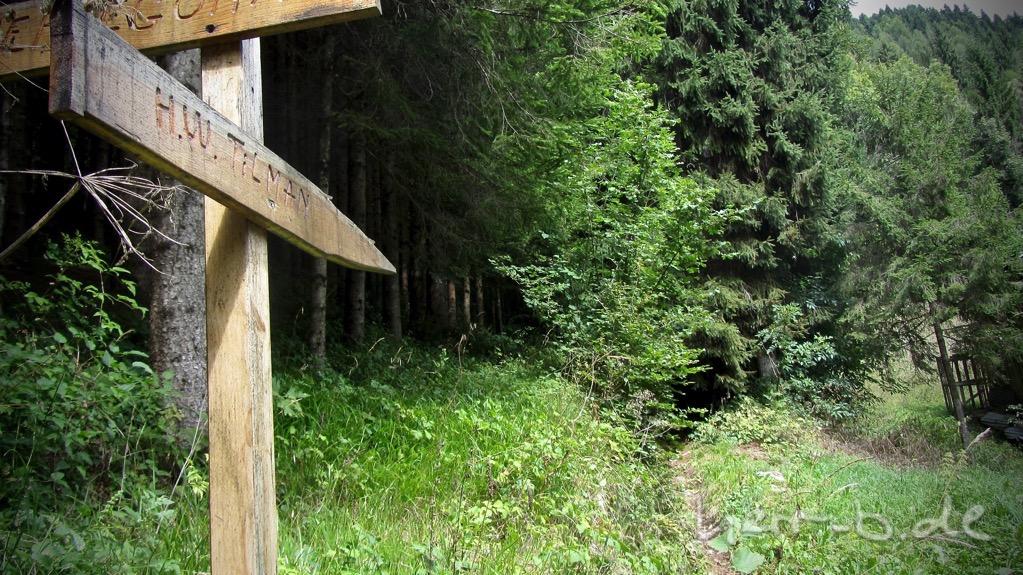 Das untere Ende des Tilman-Trails.