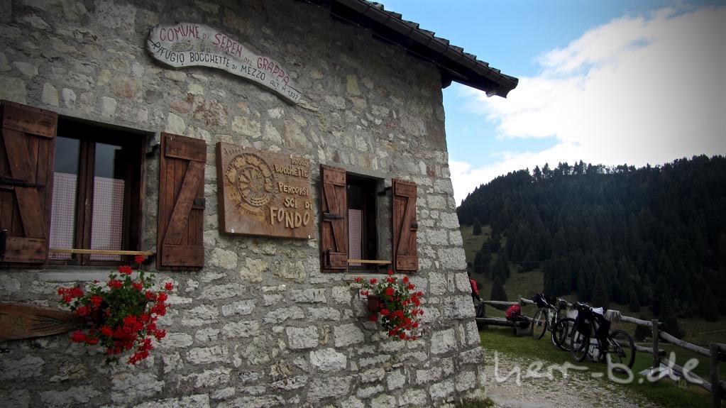 Rifugio Bocchette (1322 m), unsere Mittagsherberge.