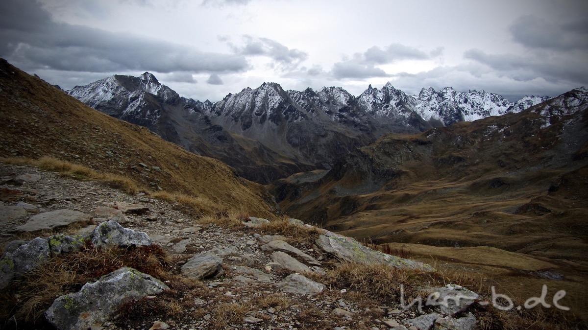 Bergpanorama am Matschuner Joch.
