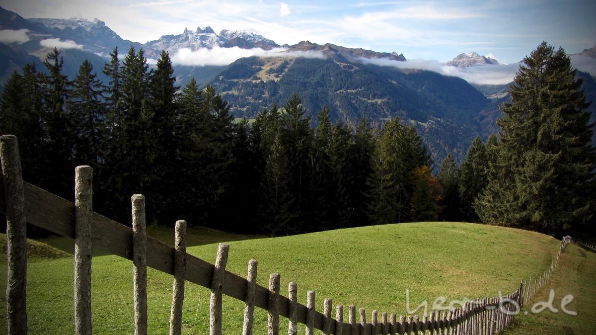 Zaun im historischen Bergwerk bei Bartholomäberg.