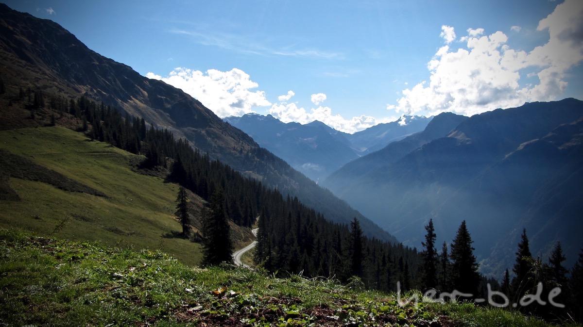 Blick vom Hochjoch zur Silvretta.