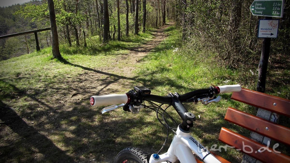 Die Vorfreude auf den Trail bildlich umgesetzt.