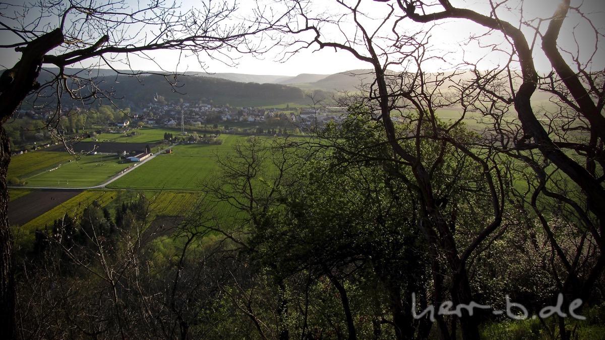 Der Ausblick Richtung Rothenstein in der Abendsonne.