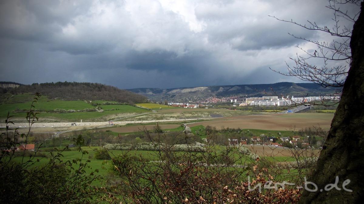 Wetter, zumeist ungemütliches, über Jena.