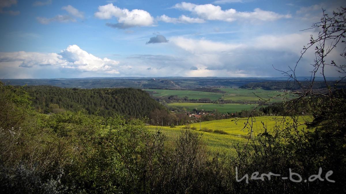 Noch mehr Wetter Richtung Leuchtenburg.