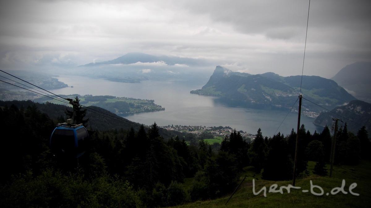 Aussicht auf Luzern von Alpgschwänd vor der Mittagspause.