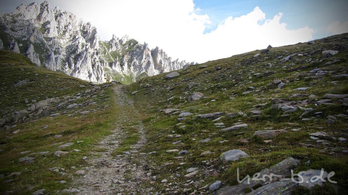 Die letzten Meter zum Passo Sole.