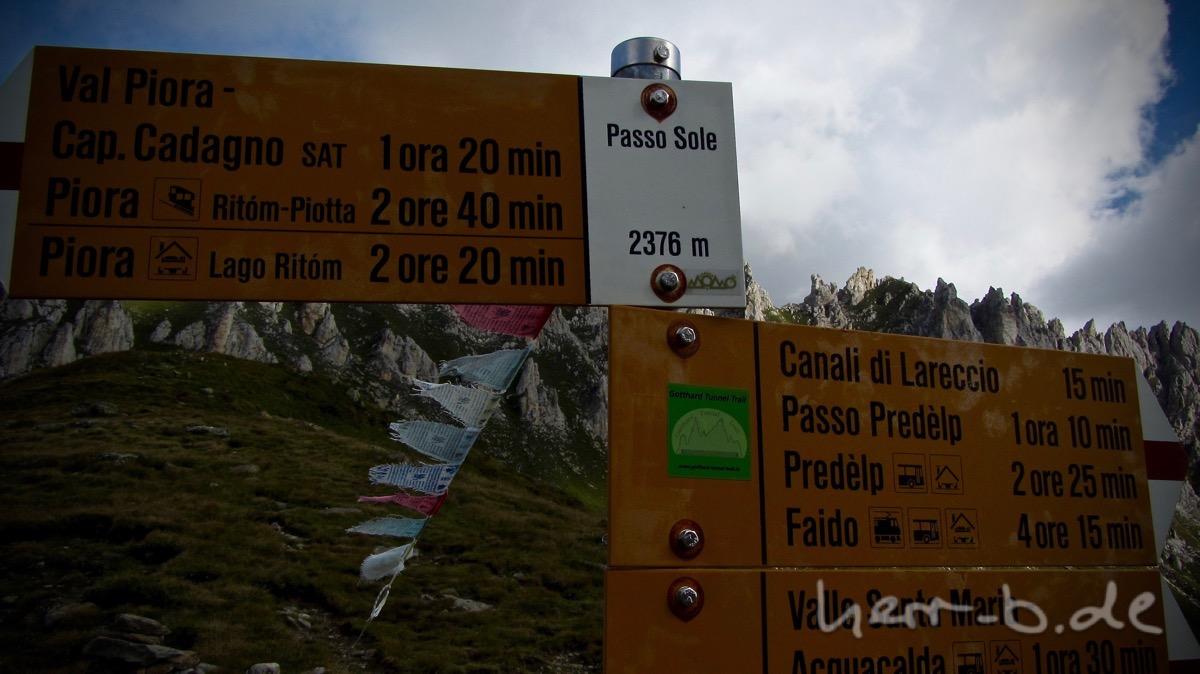 Passo Sole - der höchste Punkt der Tour.