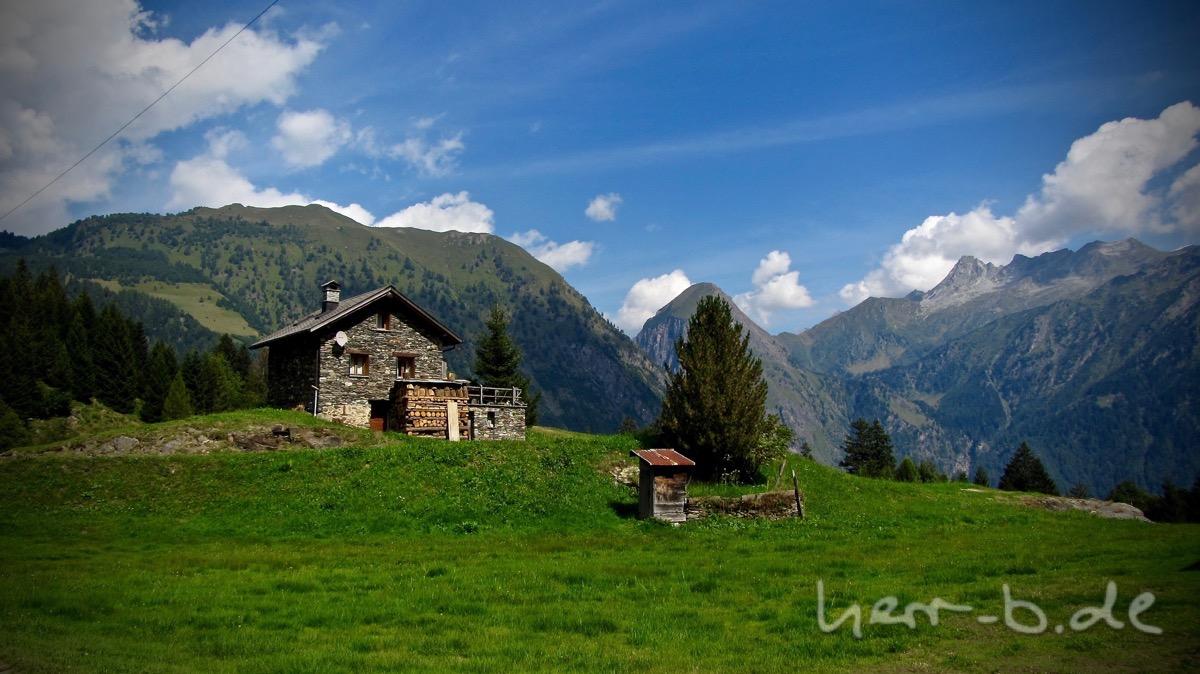 Berghütte im Tessin.