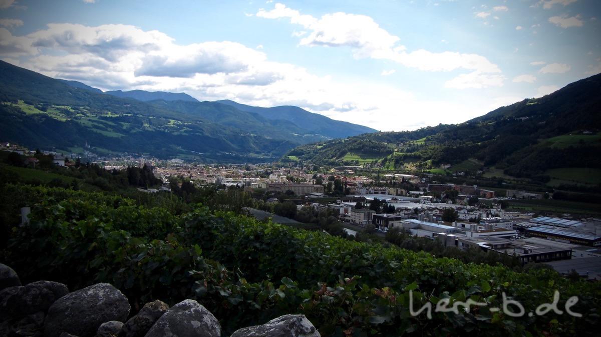 Blick auf Brixen.