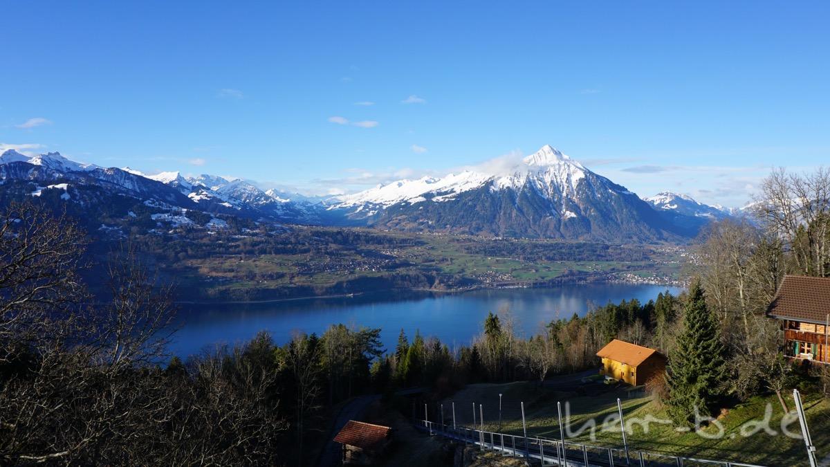 Ein wunderbar sonniger Morgen in Beatenberg.
