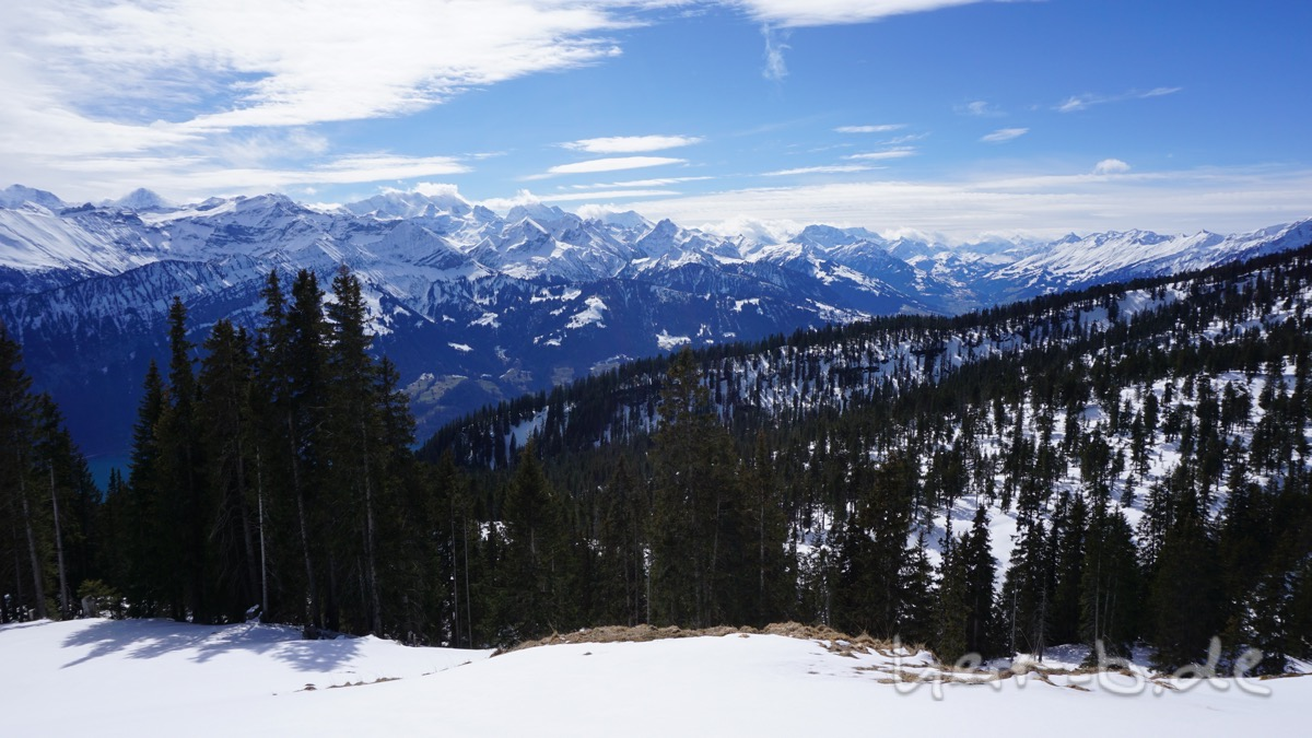 Blick ins Berner Oberland.