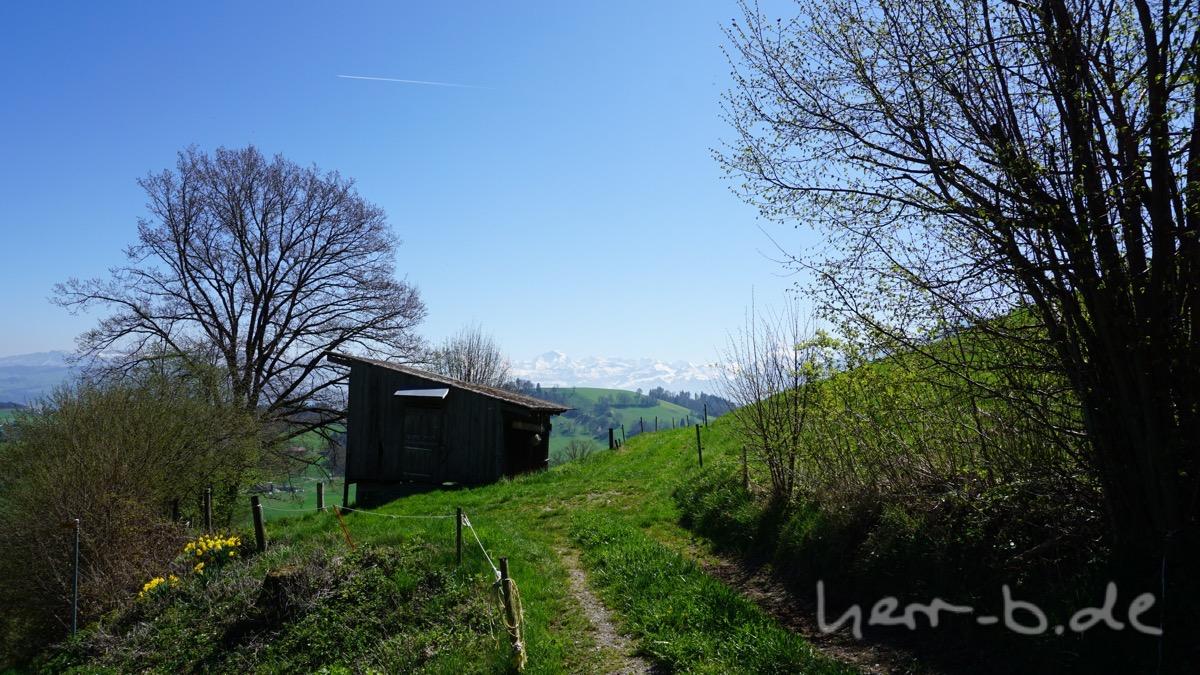 Nach den ersten Höhenmeter oberhalb von Burgistein.