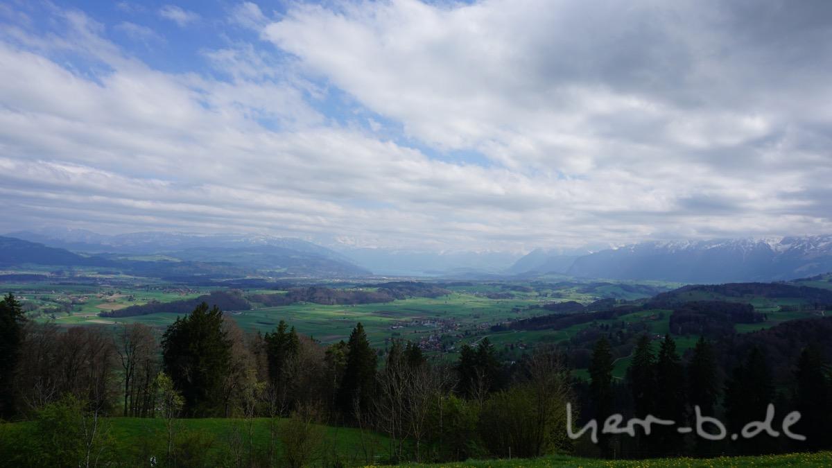 Ausblick zum Thunersee.