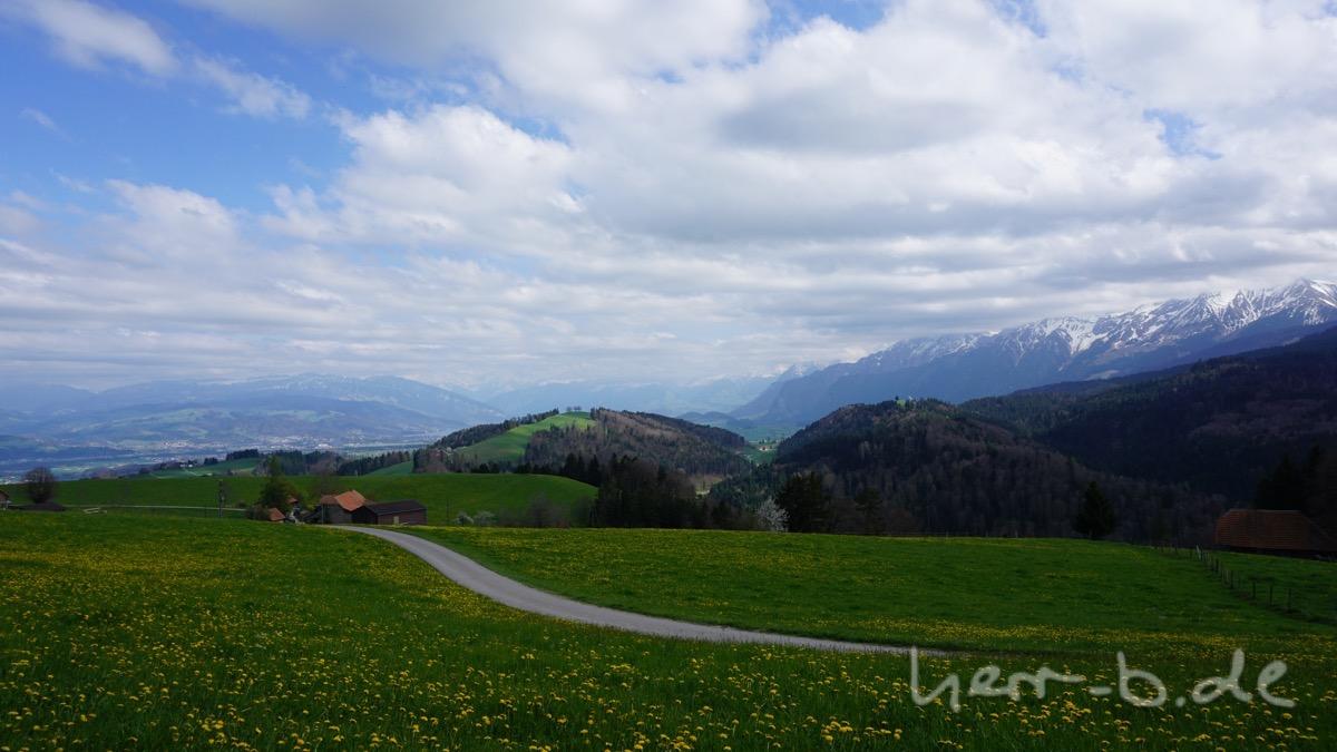 Letzter Ausblick aufs Oberland.