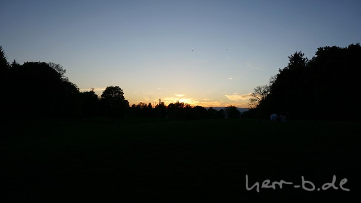 Der Gurten-Park in der Abendsonne.
