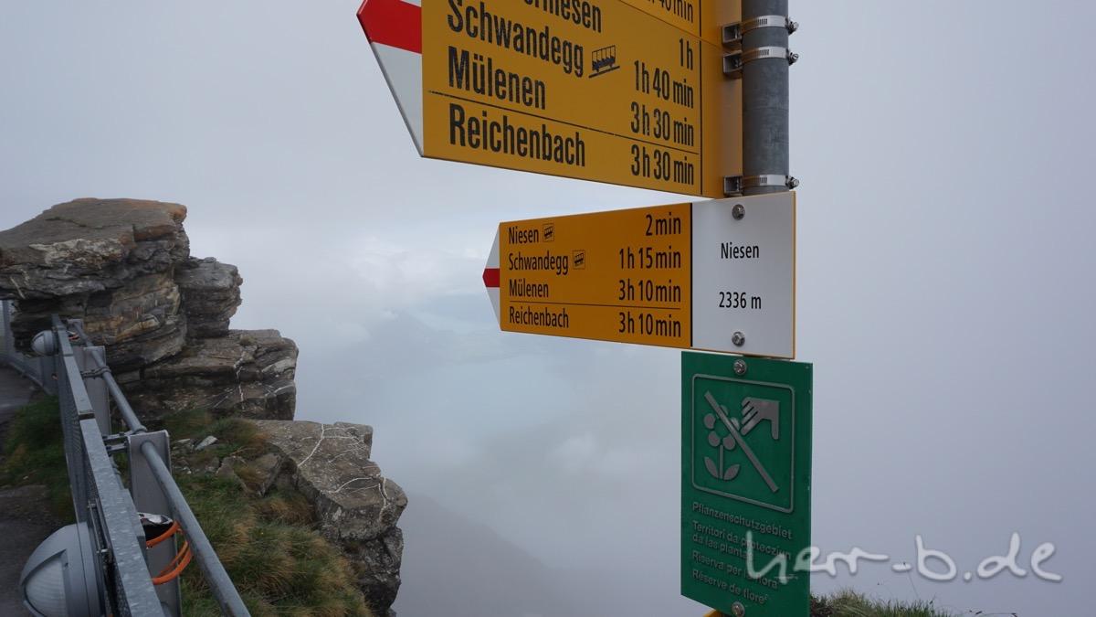 An der Bergstation Niesen.