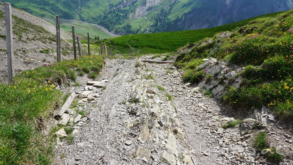 Blick zurück auf die letzten Meter des Aufstiegs.